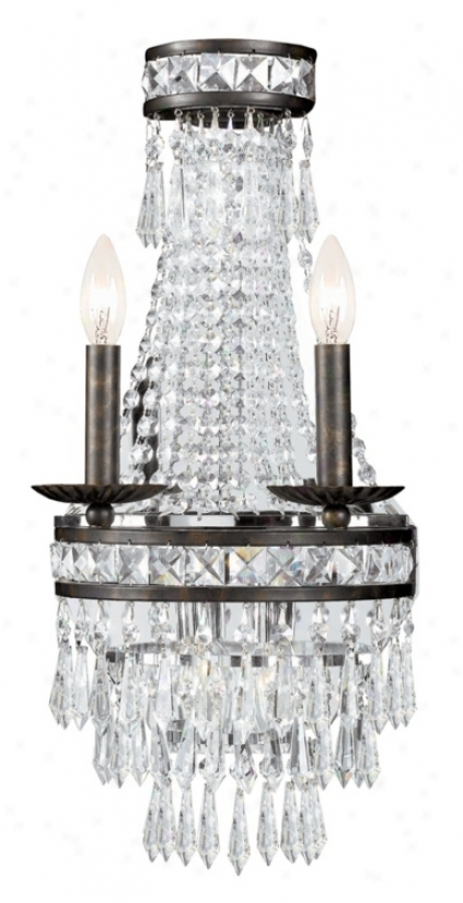 "Mercer Collection Crystql 22"" High 4-light Wall Sconce (k2923)"