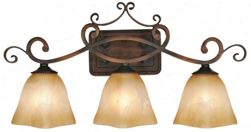 Meridian Collection Three Light Batgroom Wall Light (91125)