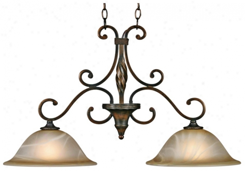 "Meridian Golden Bronze 33"" Wide Island Chandelier (t1526)"