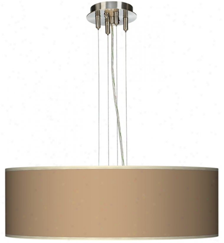 "Mesa Tan 24"" Wide Four Light Pendant Chandelier (17276-j8305)"