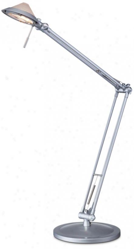Metallic Gray Architect Halogen Desk Lamp (r1605)