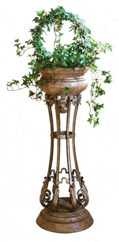 Metalworks Collection Jardiniere Plant Stand (m3954)