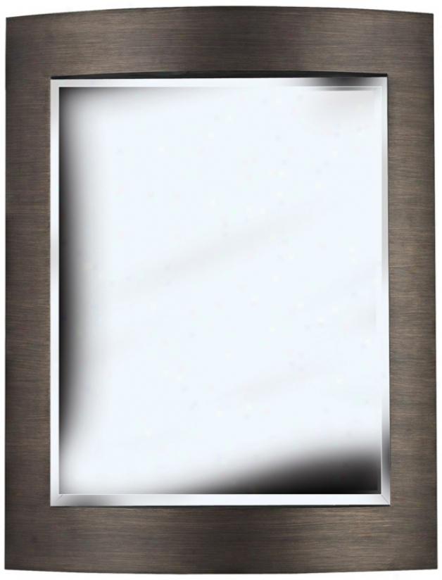 "Metro Bronze 35"" High Walll Mirror (t5049)"