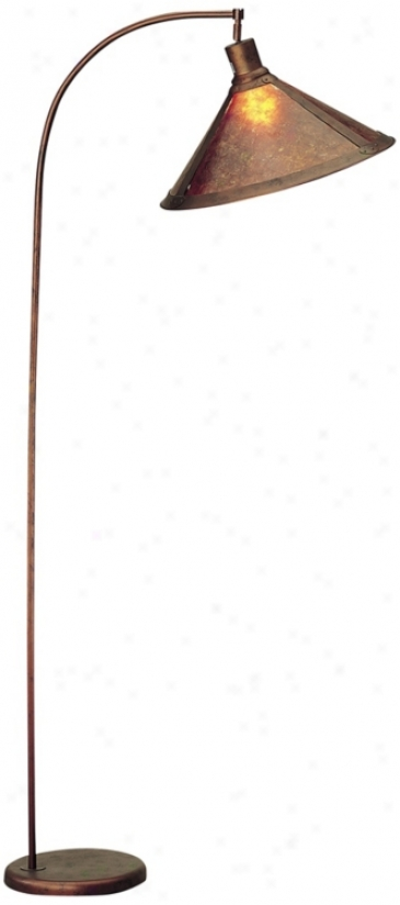 Mica Shade Arc Floor Lamp (52329)