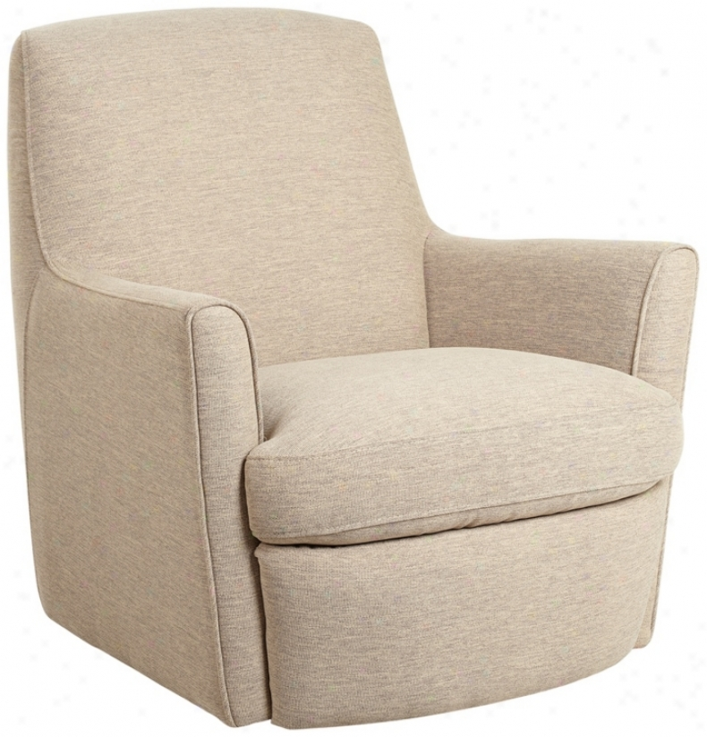 Middleton Taupe Fabrkc Swivel Chair (t6884)