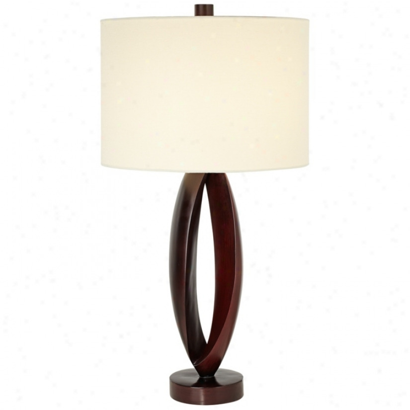 Midtown Chic Merlot Finisn Contemporary Table Lamp (v2243)