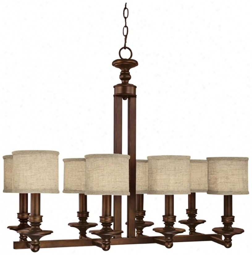 Midtown Collection 8-light Burnishec Bronze Extensive Chandelier (p0804)