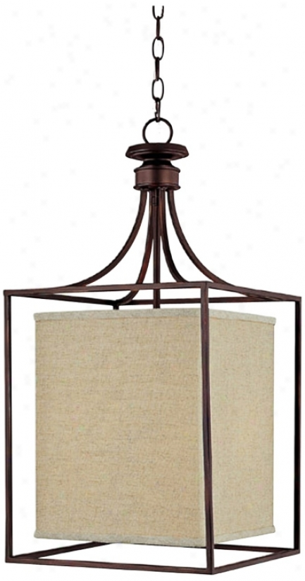 Midtown Collection Burnished Bronze Square Foyer Chandelier (t1883)