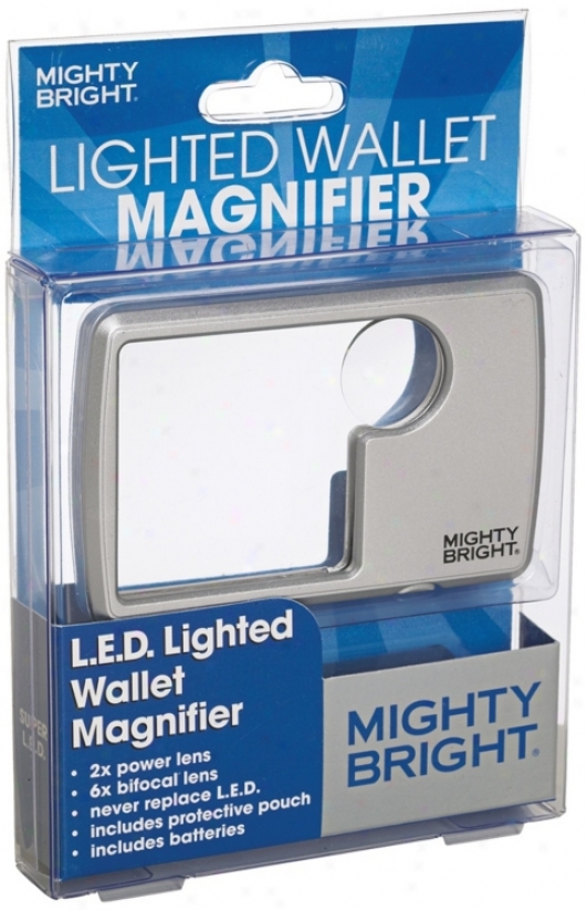 Mighty Bright Led Silver Wallet Magnifier (66308)