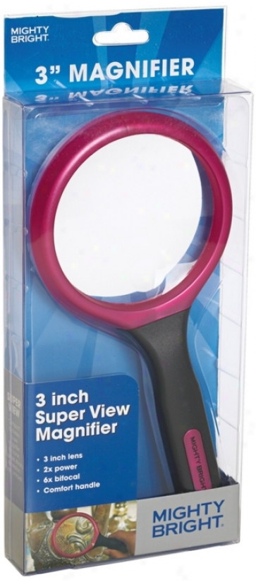"Mighty Bright Red 3"" Wide Magnifier (66660)"