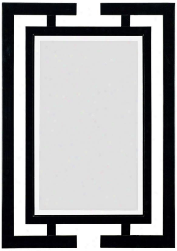 "Mikoto Gloss Black  41"" High Wall Mirror (t5012)"