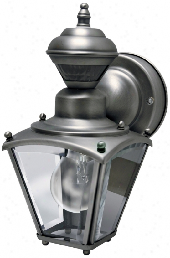 Mini Coach Soft and clear  Pewter Energy Star® Outdoor Wall Light (h6930)