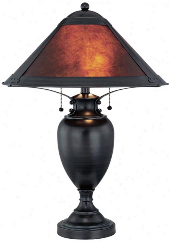 Mischa Dadk Bronze With Mica Shade Lite Source Table Lamp (u8366)