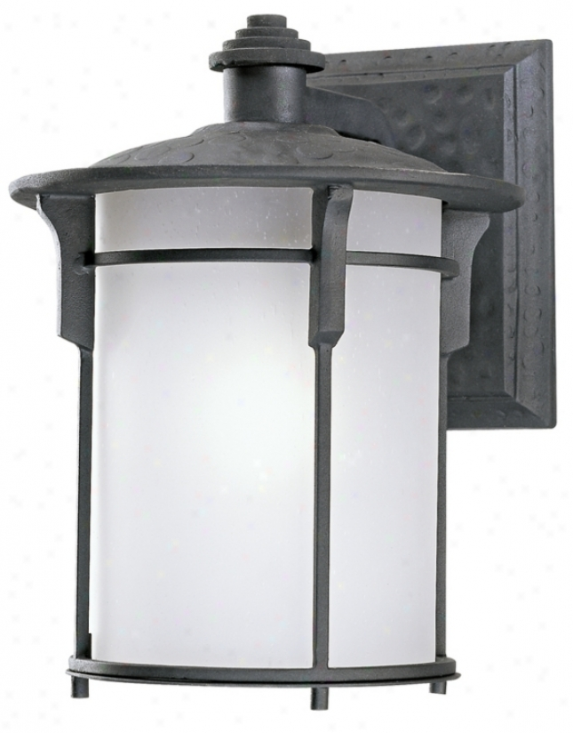 Mission Bungalow 13&quuot; High Outdoor Fluorescent Wall Light (49069)