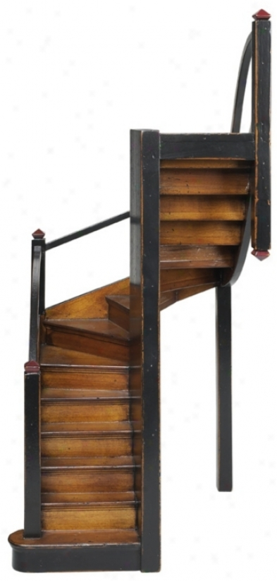 Mission Stairs Wood Decor Accent (k2444)