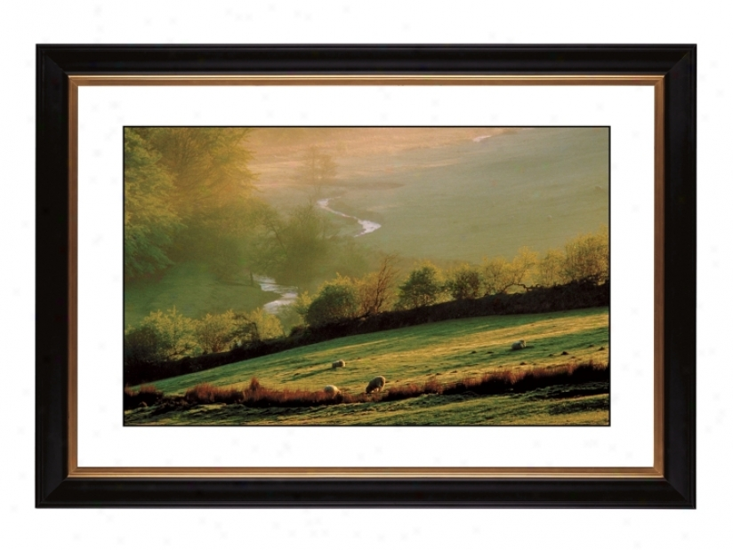 "Misty Sunrise Giclee 41 3/8"" Wide Wall Cunning (57357-80384)"