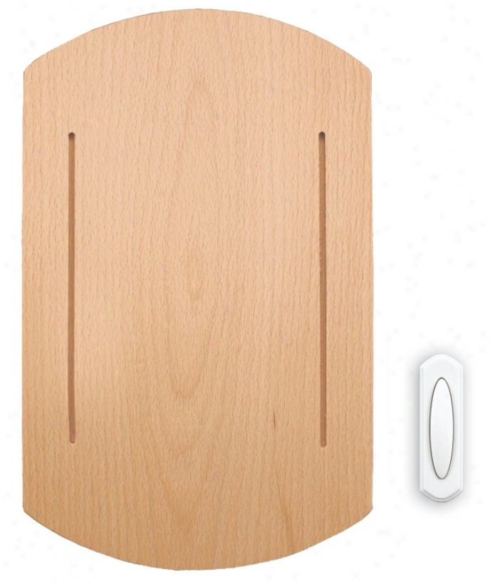 Recent Beech Wood Wireless Door Chime (k6380)