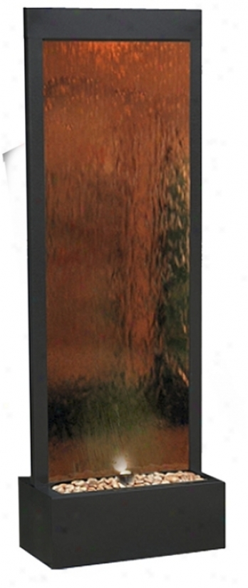 Modern Bronze Mirror Panel Fountain (j3430)