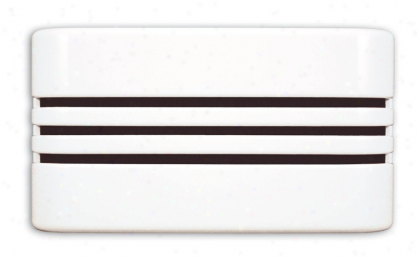 Modern Linear Whhite Door Chime (k6192)