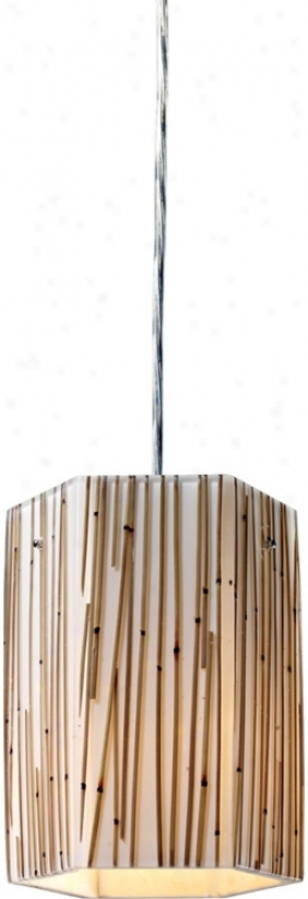 Modern Organics Collection Bamboo Stems Mini Pendant Light (k9635)