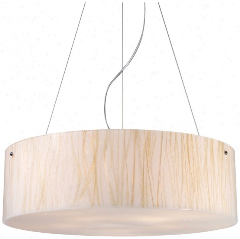 Modern Organics Collectino White Sawgrass Pendant Ljght (k9601)