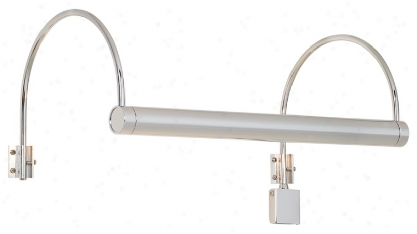 "Modern Polished Chrome 16"" Spacious Plug-in Picture Light (00348)"
