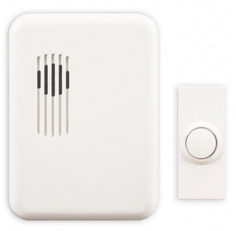 Moderh White Finish Wireless Plug-ln Door Chime (k6419)