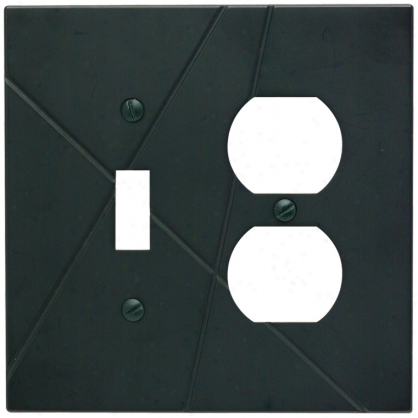 Modernist Black Combo Outlet Wall Plate (77844)