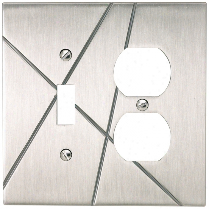 Modernlst Brushed Nickel Combo Outlet Wall Plate (77930)