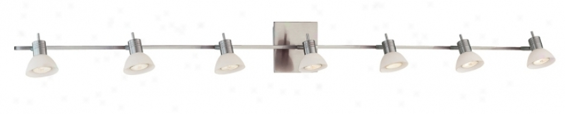 "Modo Collection Brushed Steel 62"" Wide Bathroom Fixture (95382)"