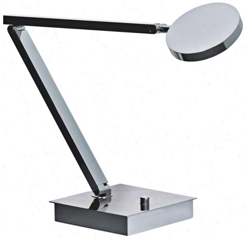 Mondoluz Ciclo Cyromium Adjustable Led Desk Lamp (v1576)