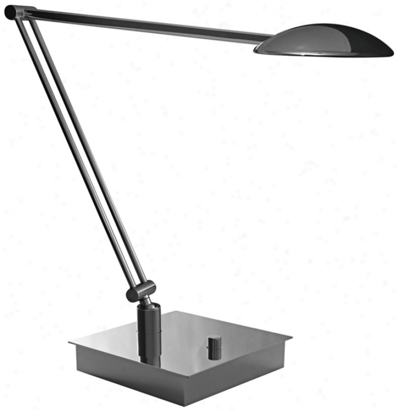Mondoluz La Cirque Chromium Led Desk Lamp With Jointed Arm (v7376)