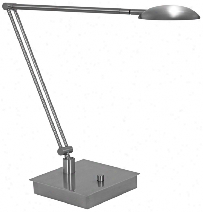 Mondoluz La Cirque Platinuj Led Desk Lamp With Jointed Arm (v7375)