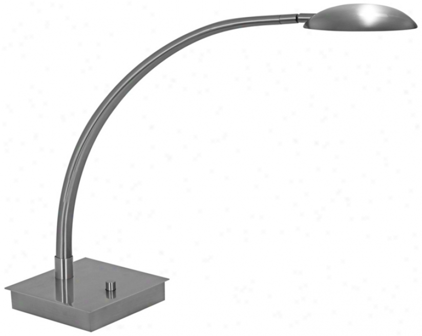 Mondoluz La Cirque Platinum Led Desk Lamp Woth Square Mean (v7378)