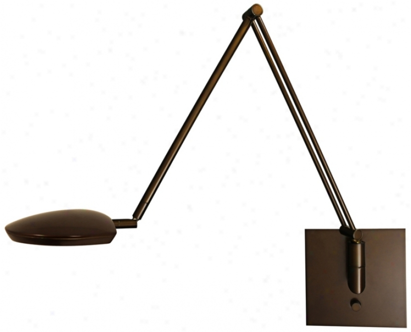 Mondoluz Pel1e Urban Bronze Led Swing Arm Wall Lamp (u7056 )