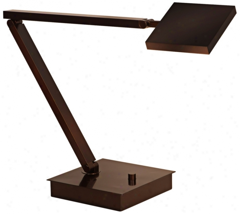 Mondoluz Rhombus Urban Bronze Adjustable Led Desk Lamp (v1585)
