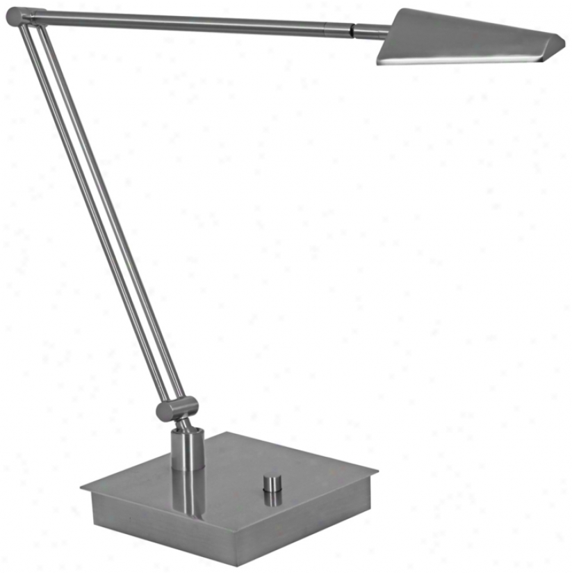 Mondoluz Ronin Angle Platinum Square Base Led Desk Lamp (v1541)