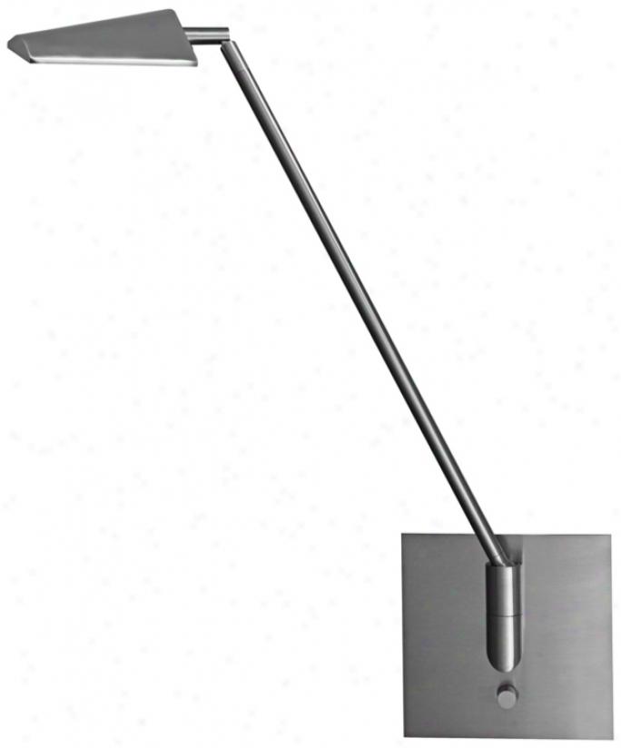Mondoluz Ronin Brushd Platinum Hard-wired Led Wall Lamp (u7045)