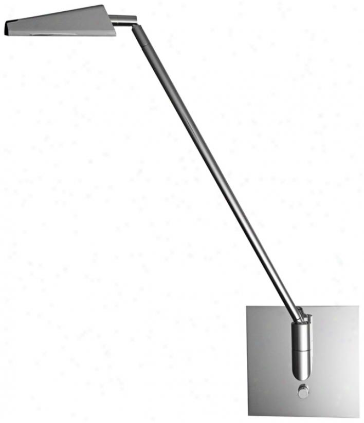 Mondoluz Ronin Chromium Hard-wired Led Wall Lamp (u7046)