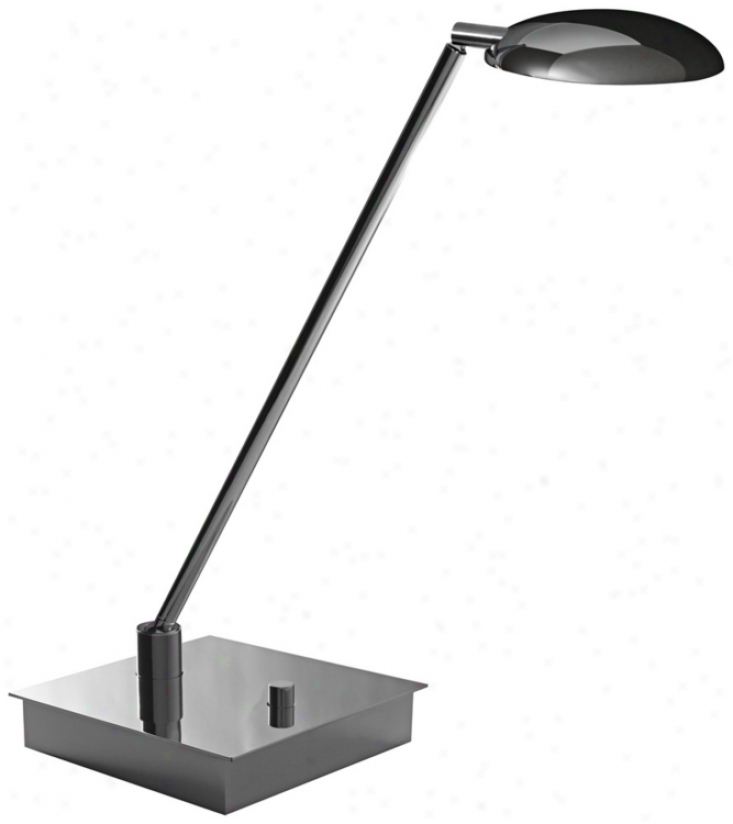 Mondoluz Vital Chromium Led Desk Lamp With Square Shameful (v7382)