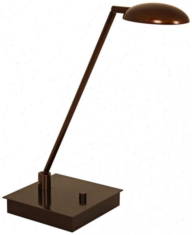 Mondoluz Vital Urban Bronze Led Desk Lamp With Square Base (v7383)