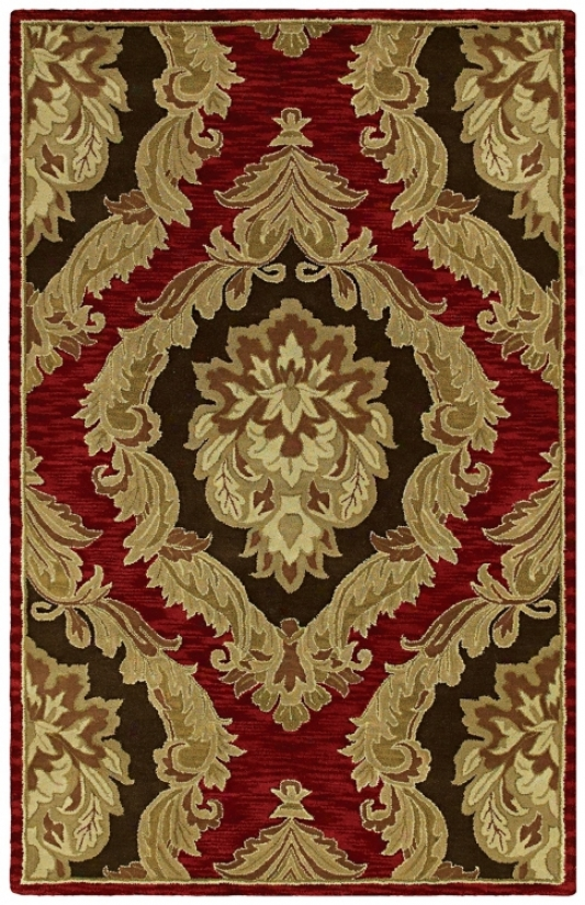 Monicaro Salsa Iii Red And Black Wool Area Rug (g9704)