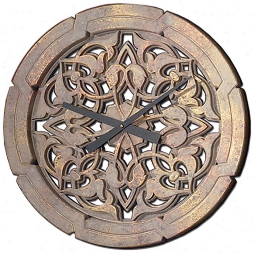 """Moorish 22"""" Wide Battery Powered Wal Clock (m0271)"""
