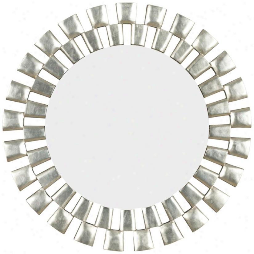 "Morningtide Silver 36"" Dear Wall Mirror (t5033)"