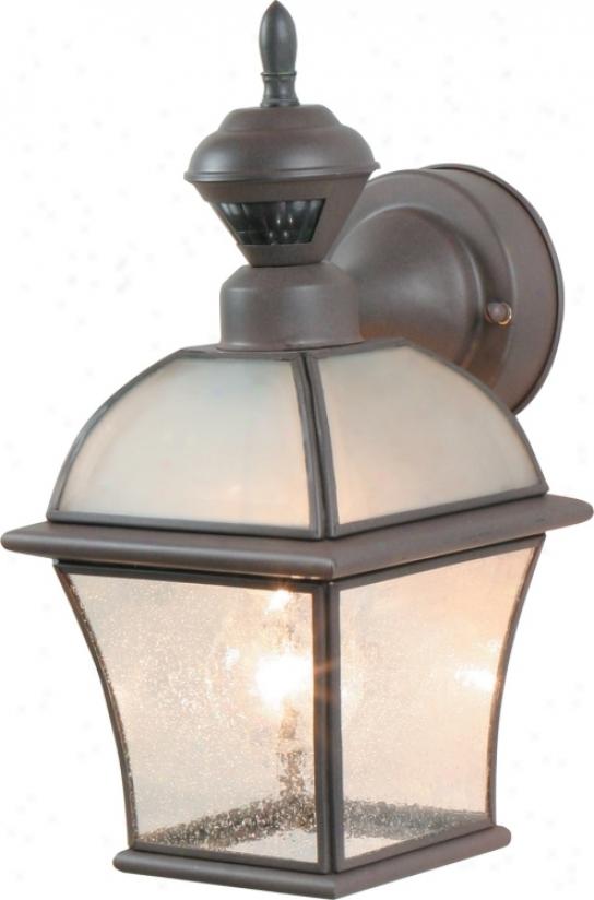 """Motion Sensor 12 7/8"""" High Rust Outdoor Wall Light (92453)"""
