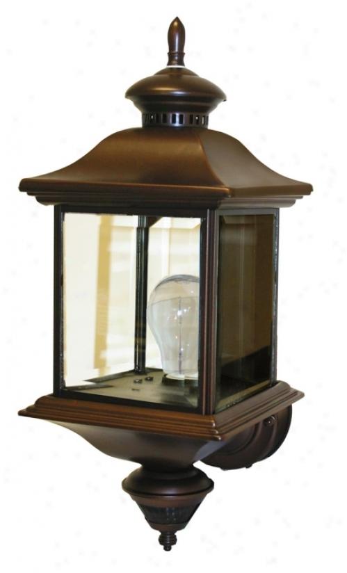 """Motion Sensor 17 1/2"""" High Antique Bronze Outdoor Wall Light (87796)"""