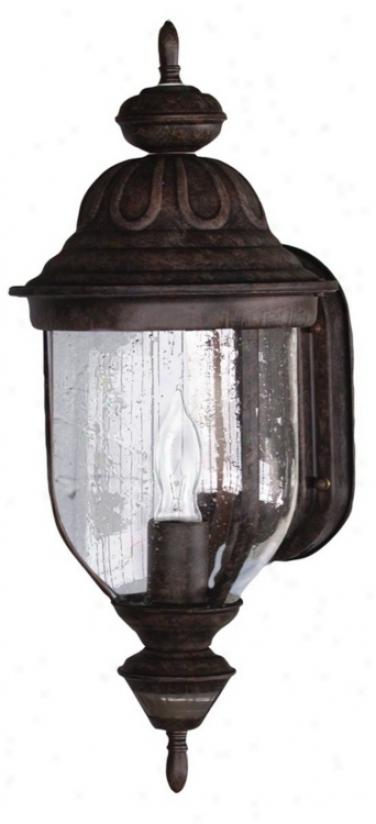"Motion Sensor 18 3/4"" High Rustic Brown Outdoor Light (34280)"