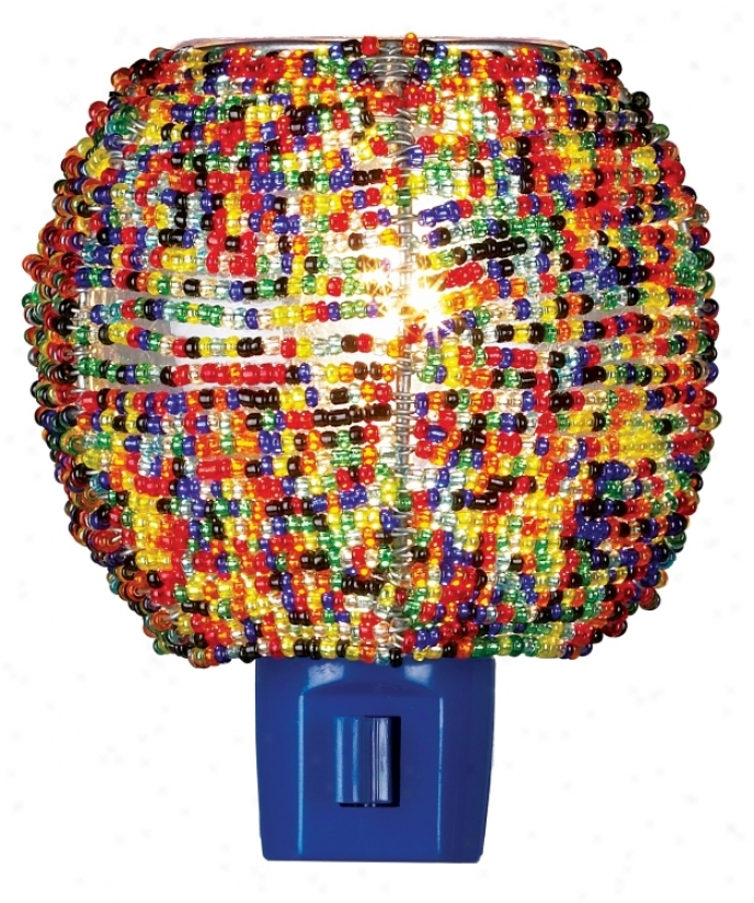 Multi Hue Beaded Night Light (73017)