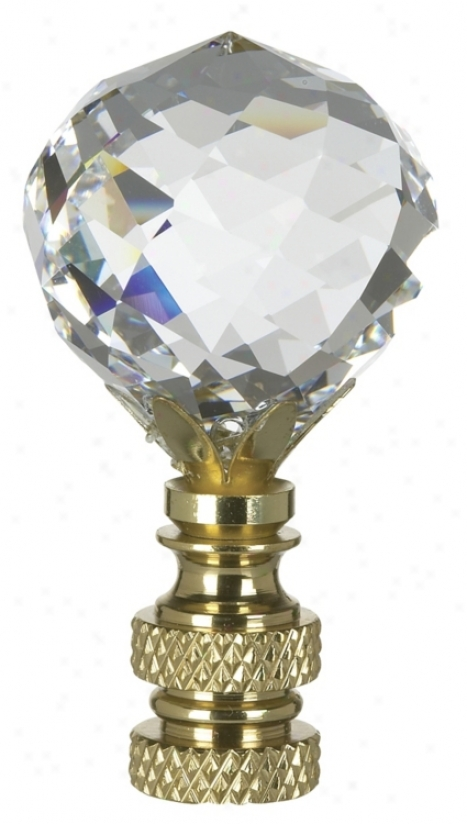 Multi-faceted Swarovski Crystal Ball Lamp Shade Finial (78465)