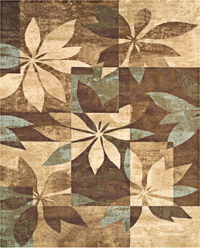 "Mystic Brown And Blue 7' 10""x10' 10"" Rug (f1330)"